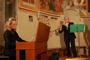 Lucia Signorelli (organo) e Giuseppe Tosatti (flauto) del Chronos Ensemble