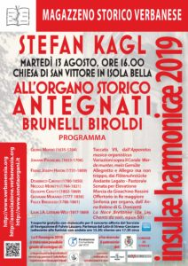 Stefan Kagl all'organo Antegnati - Isola Bella, 13 agosto 2019, ore 16